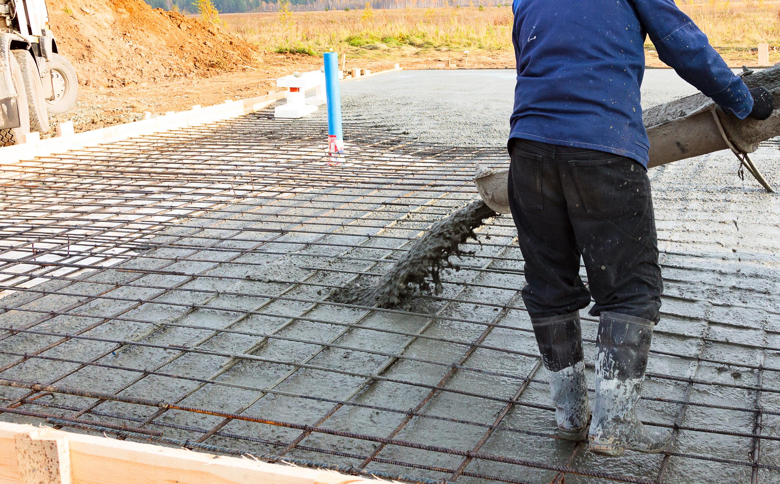 rebar concrete pour